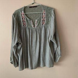 Peasant blouse from Anthropologie